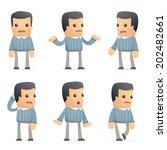 set of customer character in...   Shutterstock .eps vector #202482661