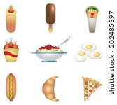 fast food colors icon | Shutterstock .eps vector #202485397