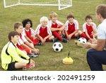 junior football team training... | Shutterstock . vector #202491259