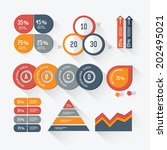 elements of infographic design... | Shutterstock .eps vector #202495021