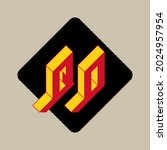 isometric font for design. qo   ... | Shutterstock .eps vector #2024957954