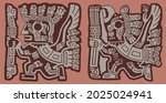 andean iconography pre inca... | Shutterstock .eps vector #2025024941