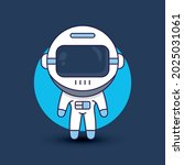 astronaut cartoon character... | Shutterstock .eps vector #2025031061
