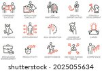 vector set of linear icons... | Shutterstock .eps vector #2025055634