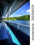 tourist boat in eifel region ... | Shutterstock . vector #202506229