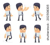 set of businessman character in ... | Shutterstock .eps vector #202508305