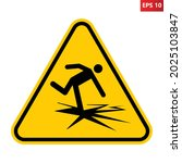 thin ice sign. vector...   Shutterstock .eps vector #2025103847