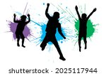 silhouette of jumping boys... | Shutterstock .eps vector #2025117944