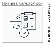 packing list line icon.... | Shutterstock .eps vector #2025156194