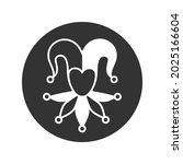 joker graphic icon. jester cap...   Shutterstock .eps vector #2025166604
