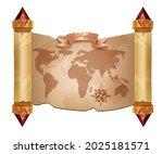 old world map vector background ... | Shutterstock .eps vector #2025181571