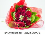 Stock photo red rose bouquet 202520971