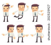 set of manager character in... | Shutterstock .eps vector #202525927