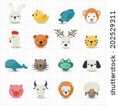 animal icons | Shutterstock .eps vector #202529311