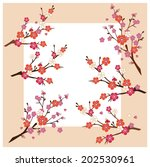 cherry blossom branch vector... | Shutterstock .eps vector #202530961