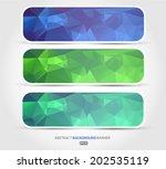 set abstract 3d vector... | Shutterstock .eps vector #202535119