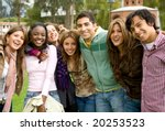 happy group of young people at... | Shutterstock . vector #20253523