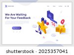 landing page template with... | Shutterstock .eps vector #2025357041