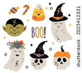 set of isolated halloween... | Shutterstock .eps vector #2025412331