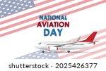 national aviation day. aviation ...   Shutterstock .eps vector #2025426377