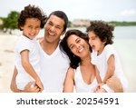 happy family portrait at the... | Shutterstock . vector #20254591