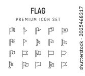 premium pack of flag line icons....