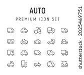premium pack of auto line icons....