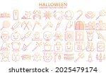 halloween thin gradient outline ...