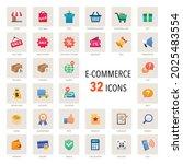 e commerce icon set of 32...