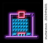 skyscraper house neon light...   Shutterstock .eps vector #2025496031