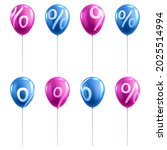 3d sale balloon with percent   Shutterstock .eps vector #2025514994