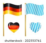 germany and bavaria flags icons | Shutterstock .eps vector #202553761