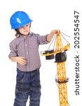 cute handsome little child... | Shutterstock . vector #202554547