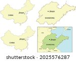 jinan city location on map of... | Shutterstock .eps vector #2025576287