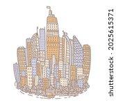 isolated big city metropolis...   Shutterstock .eps vector #2025615371