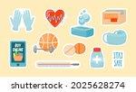 health care stickers. online...   Shutterstock .eps vector #2025628274