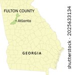 fulton county and city of... | Shutterstock .eps vector #2025633134