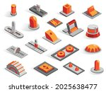 isometric or 3d various buttons ... | Shutterstock .eps vector #2025638477