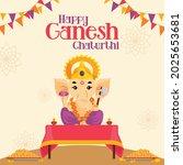happy ganesh chaturthi indian... | Shutterstock .eps vector #2025653681