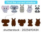 find correct shadow. kids... | Shutterstock .eps vector #2025693434