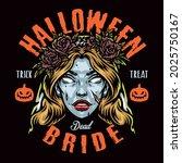 halloween night colorful... | Shutterstock .eps vector #2025750167
