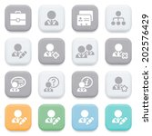 users icons on color buttons. | Shutterstock .eps vector #202576429