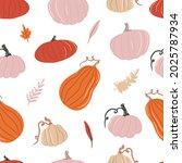 seamless pattern with pumpkins  ... | Shutterstock .eps vector #2025787934