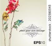 retro floral background | Shutterstock .eps vector #202580545