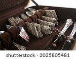 A Collection Of Antique Silver...