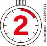 electronic digital stopwatch....   Shutterstock .eps vector #2025844511