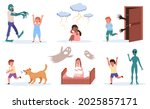 children fears. little kids...   Shutterstock .eps vector #2025857171