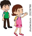 illustration of a boy and a... | Shutterstock . vector #20258788