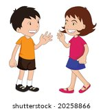 boy and a girl talking to each... | Shutterstock . vector #20258866