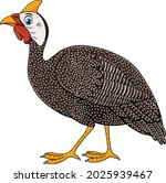 cute guinea fowl cartoon vector ...   Shutterstock .eps vector #2025939467